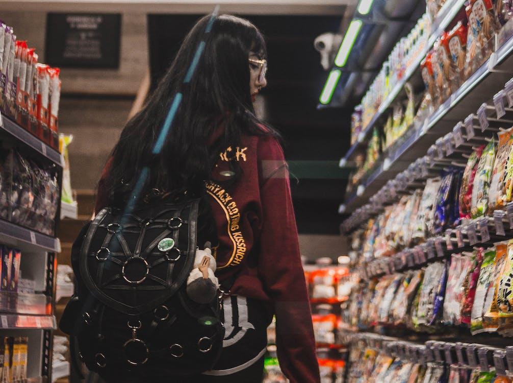 állvány, árukészlet, bevásárlás
