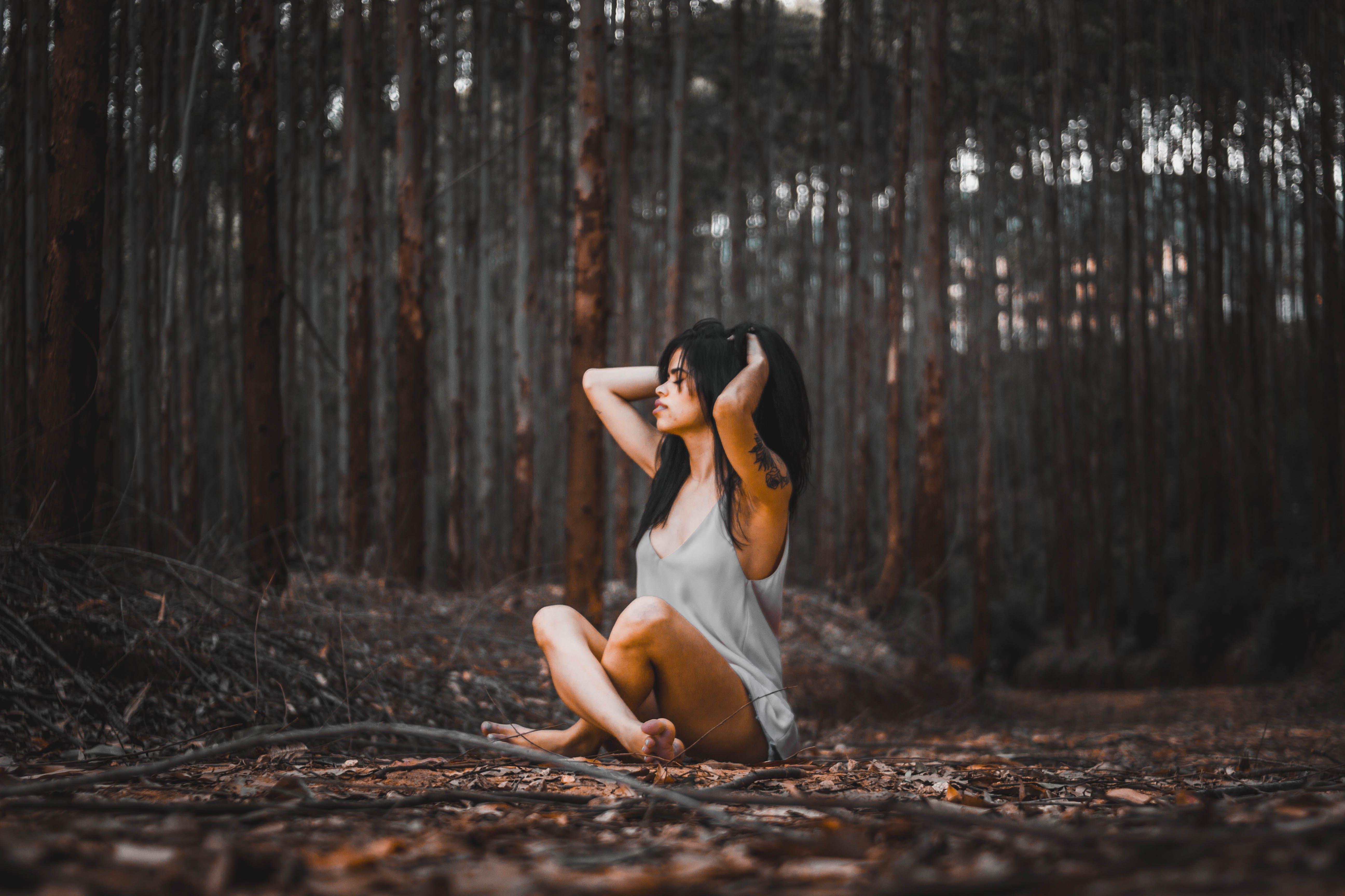 Photo of Woman Sitting On Ground