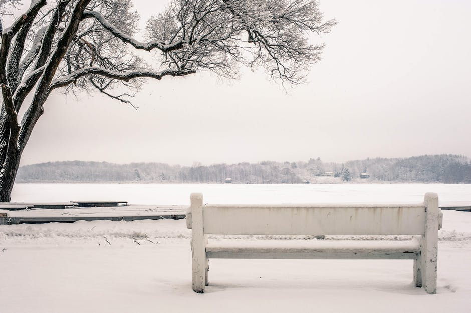 New free stock photo of cold, snow, bench