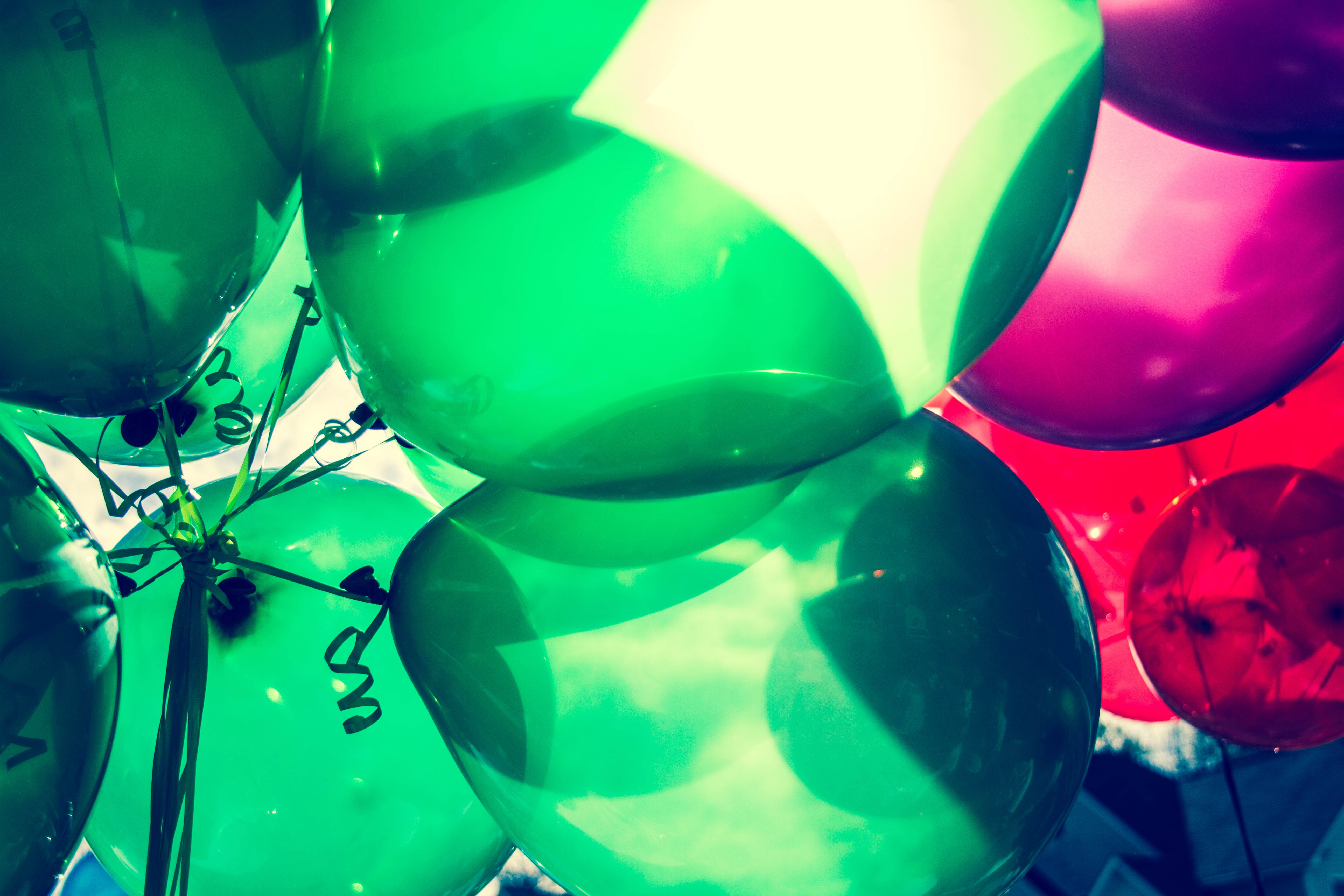 Foto profissional grátis de aniversário, arte, balões, brilhante