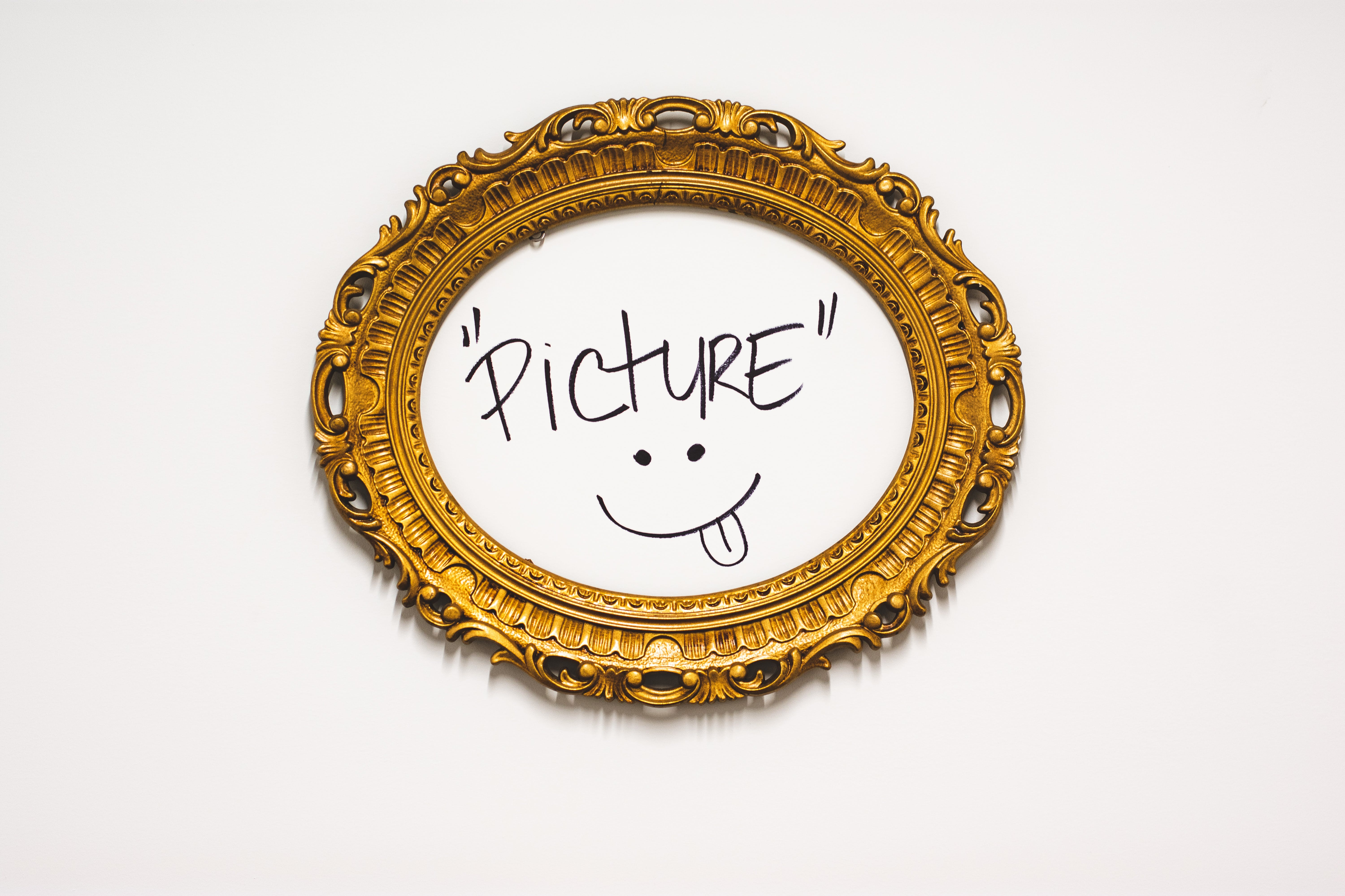 Oval Brown Picture Frame