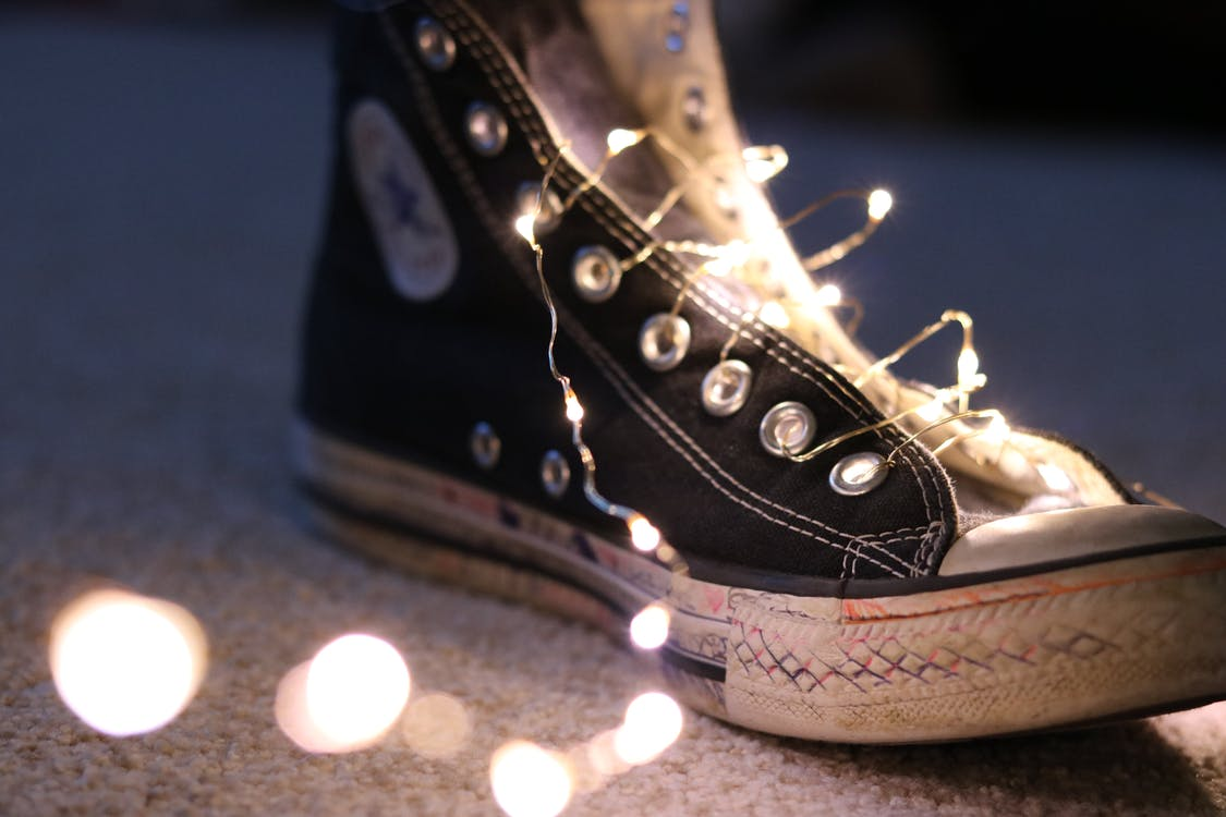 Photo of String Lights on Shoe