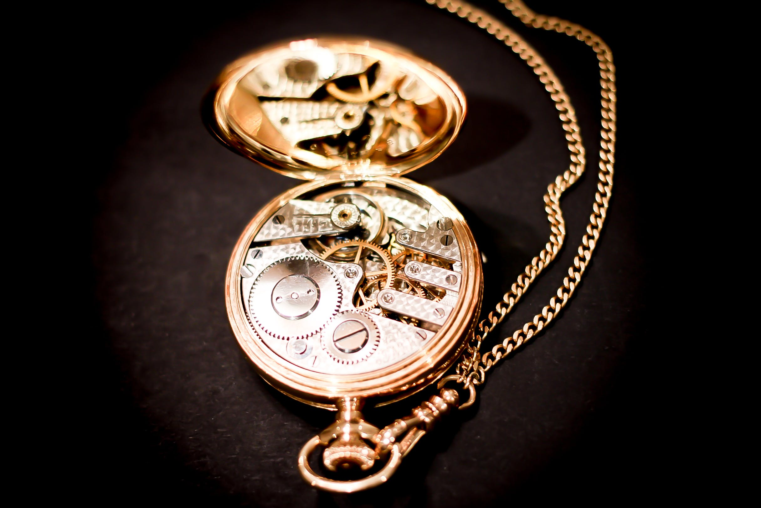 Gold Skeleton Pocketwatch