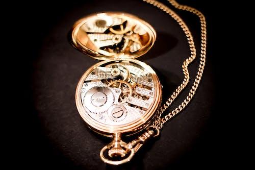 Gold Skeleton Pocketwatch