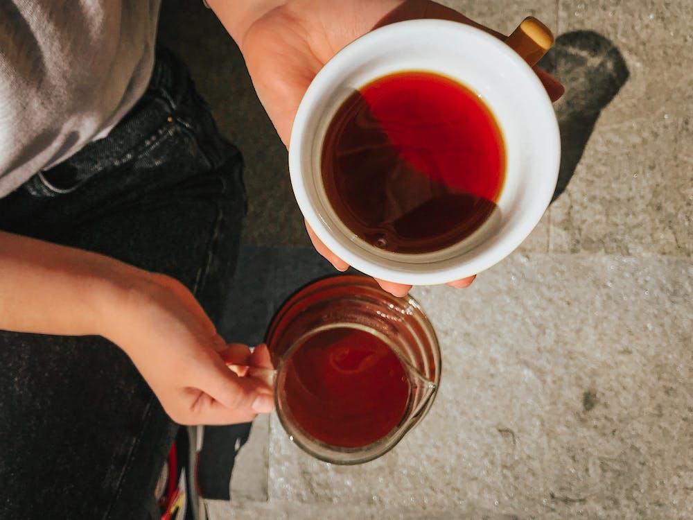 čaj, džbán, horko