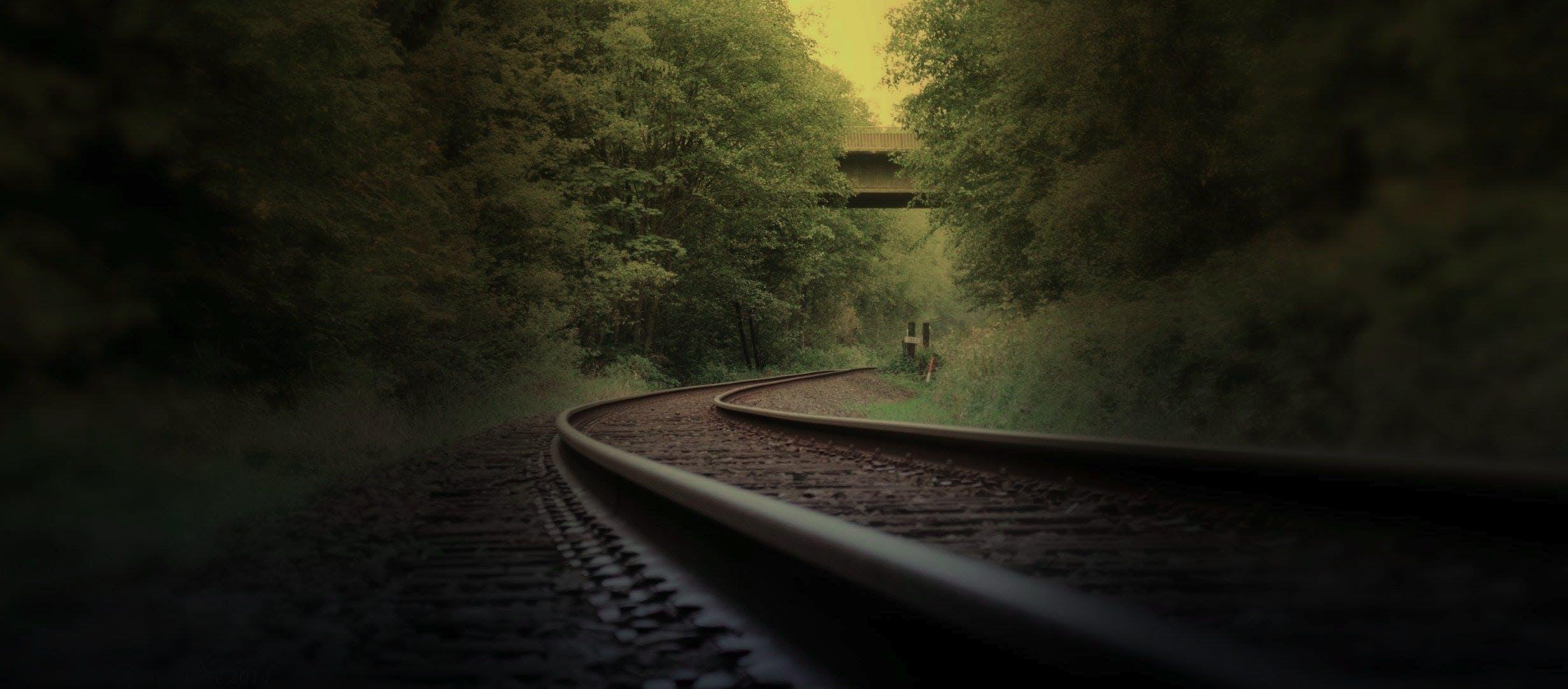 Train Rail Photo during Daytime