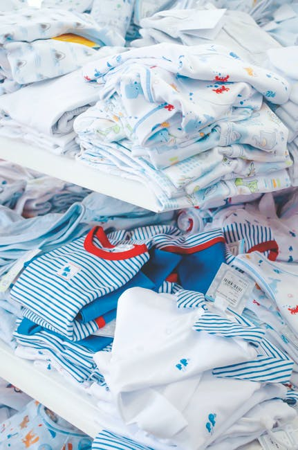 White and blue textiles