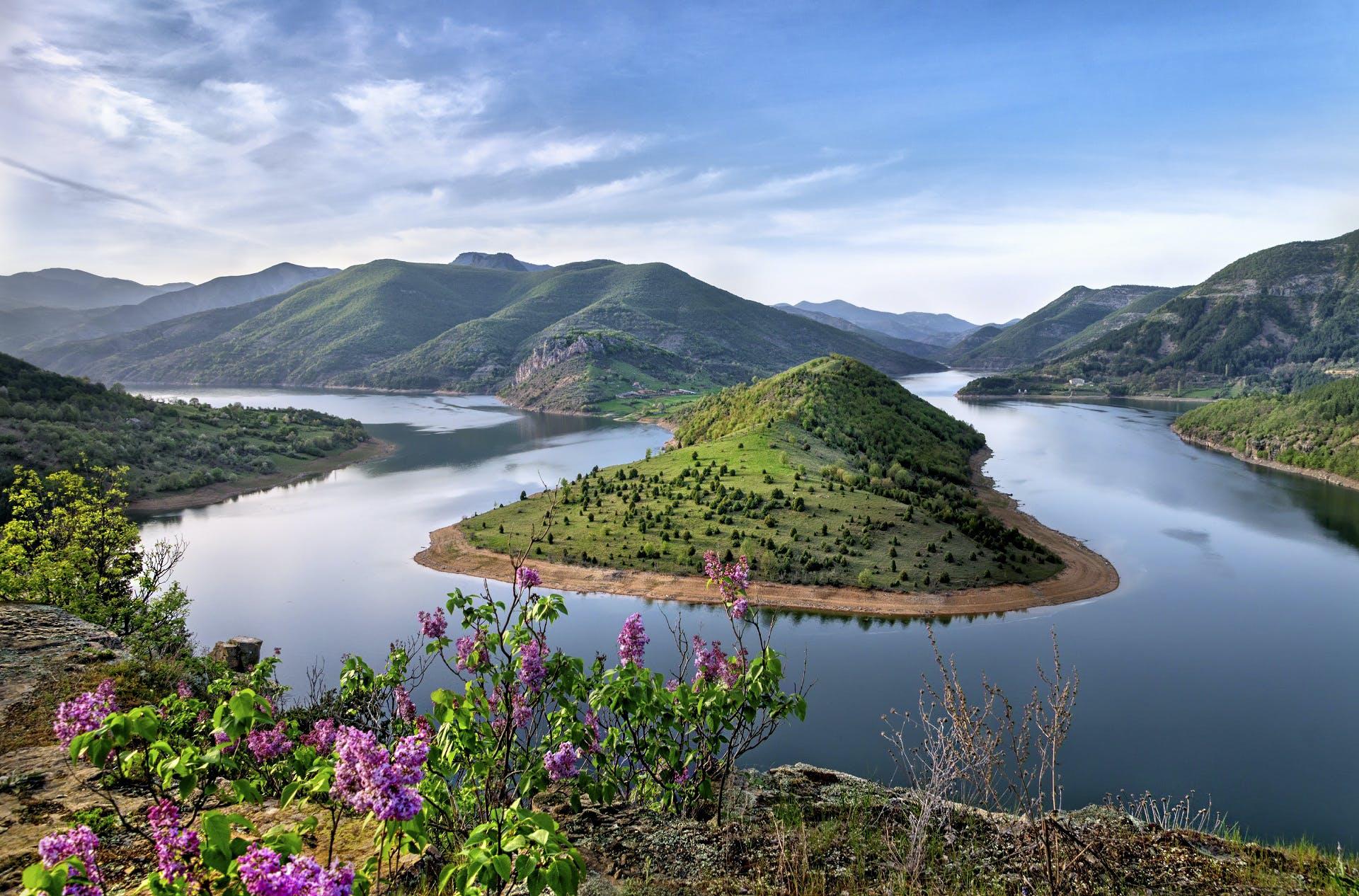 berg, berge, fjord