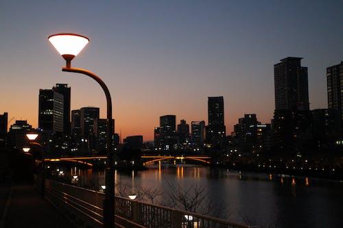 Free stock photo of bridge, buildings, city