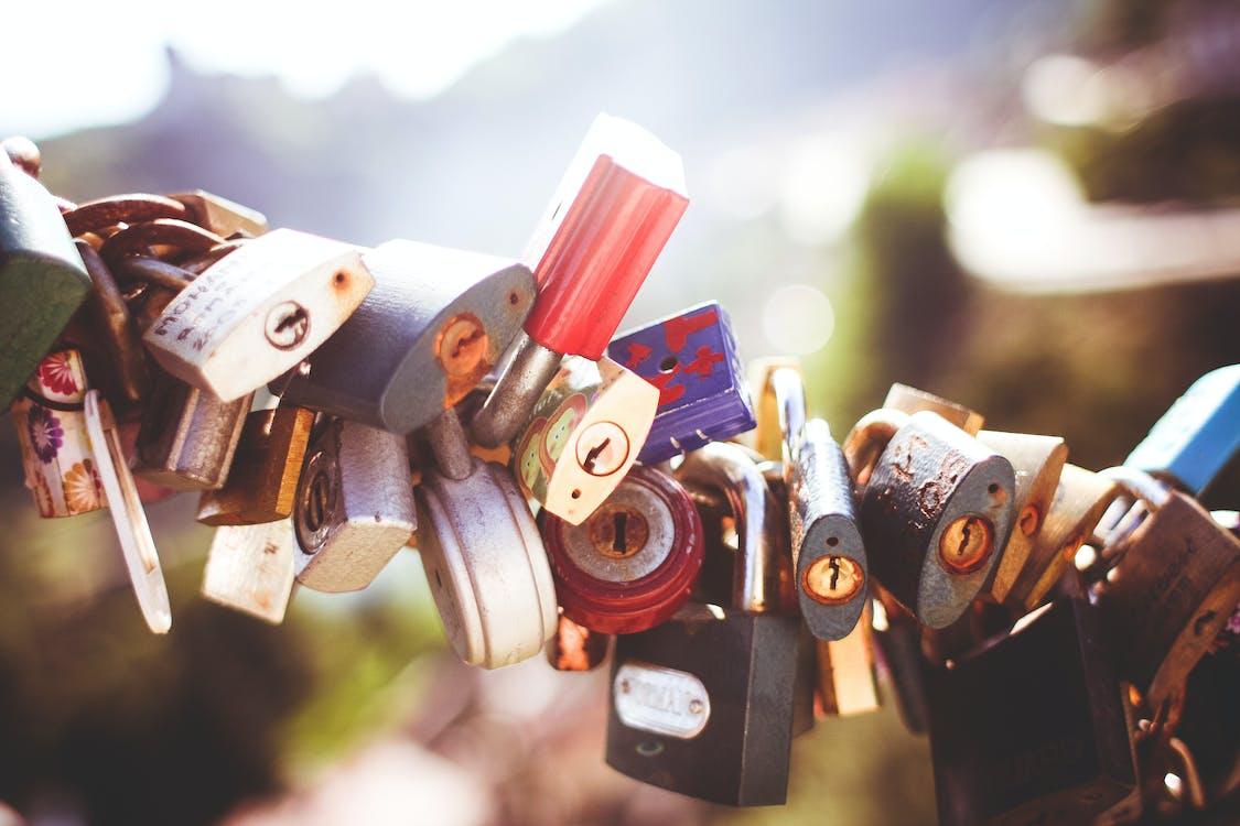 brouiller, cadenas, cadenas d'amour