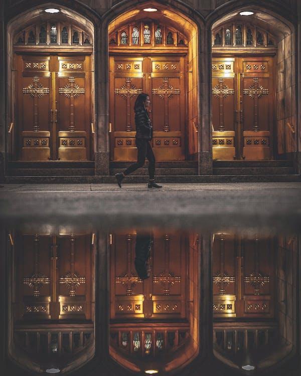 architektúra, chodník, chôdza