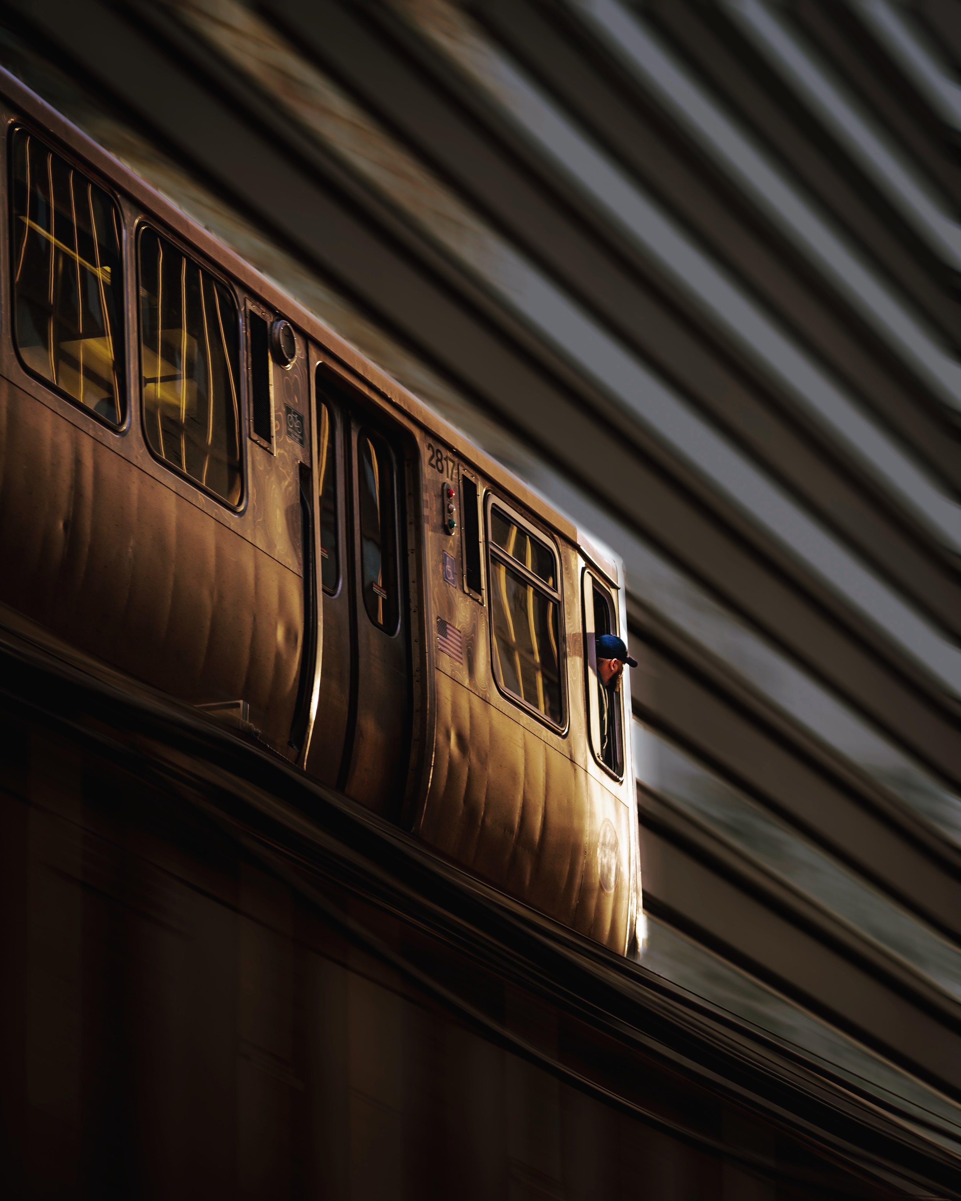 ablak, acél, alacsony szögű felvétel