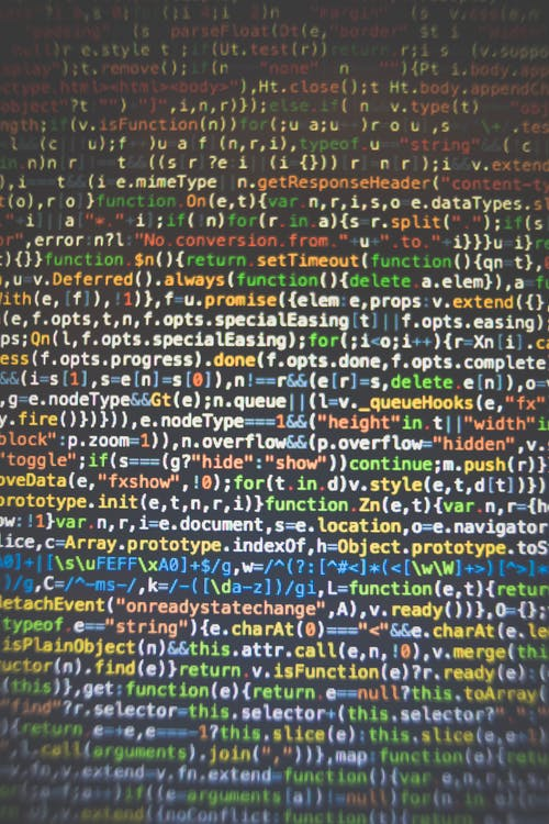 Free stock photo of codes, computer, data, programming