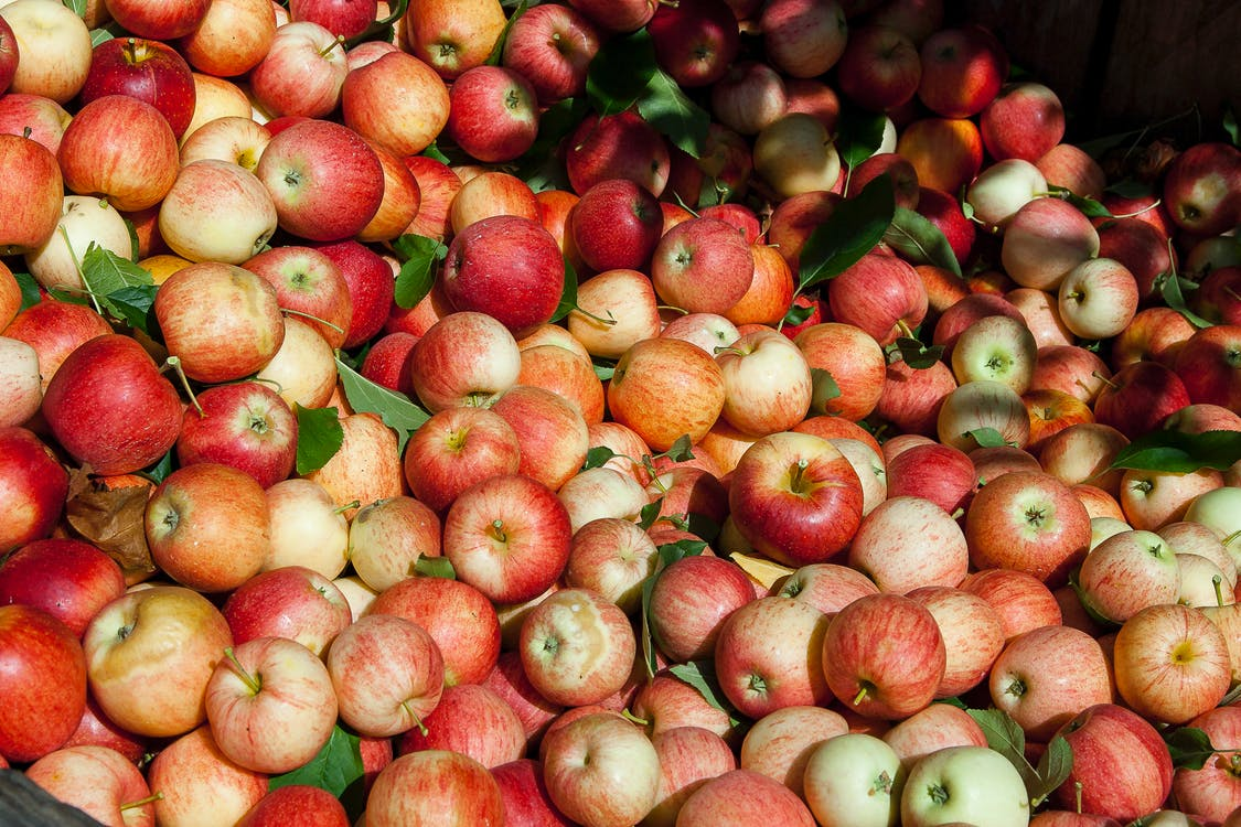 Bunch of Red and Orange Apples