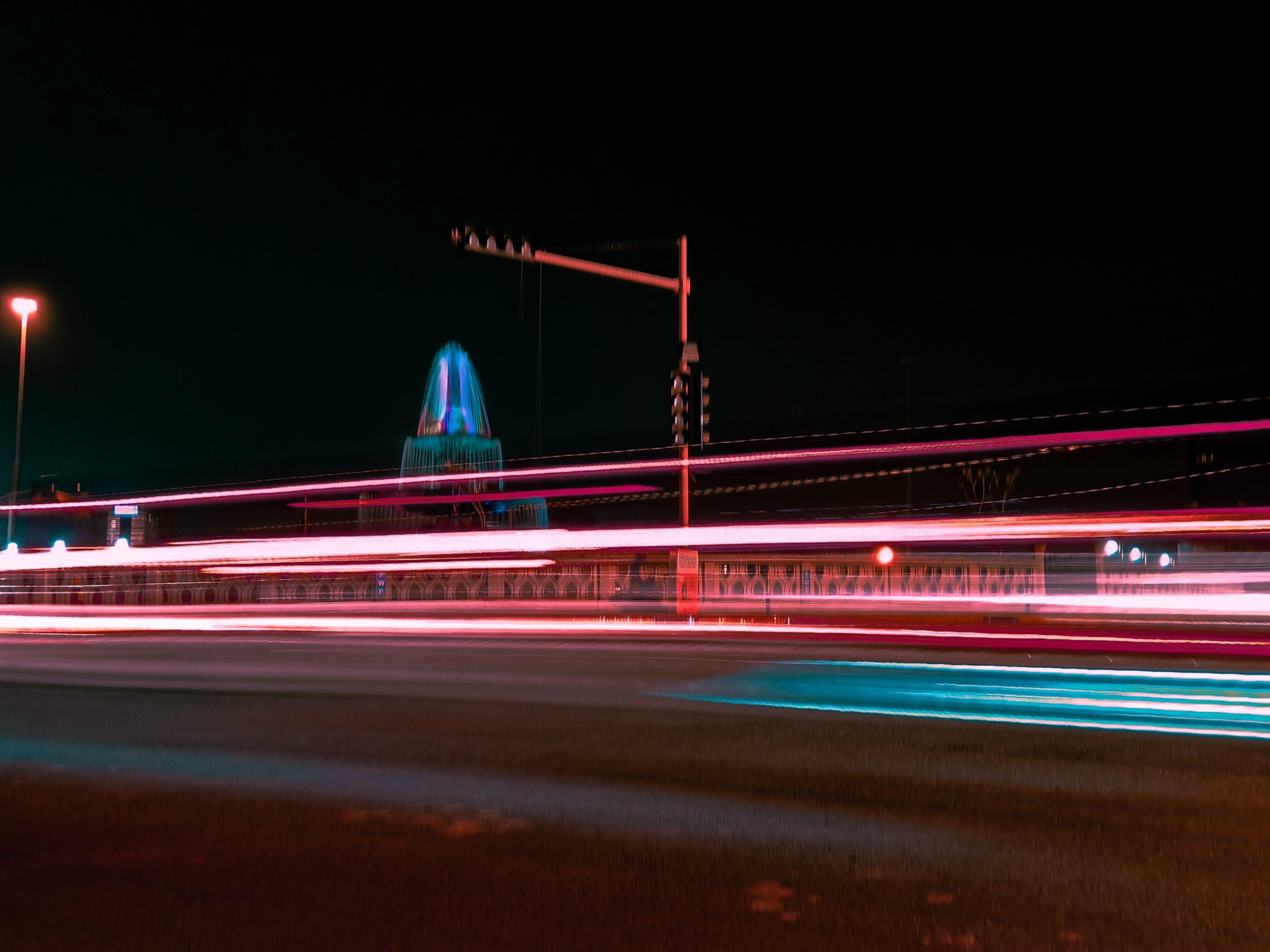 Základová fotografie zdarma na téma asfalt, barva, časosběr, dlouhá expozice