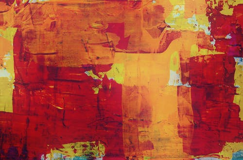 Orange, Red, and Yellow Abstract Painting