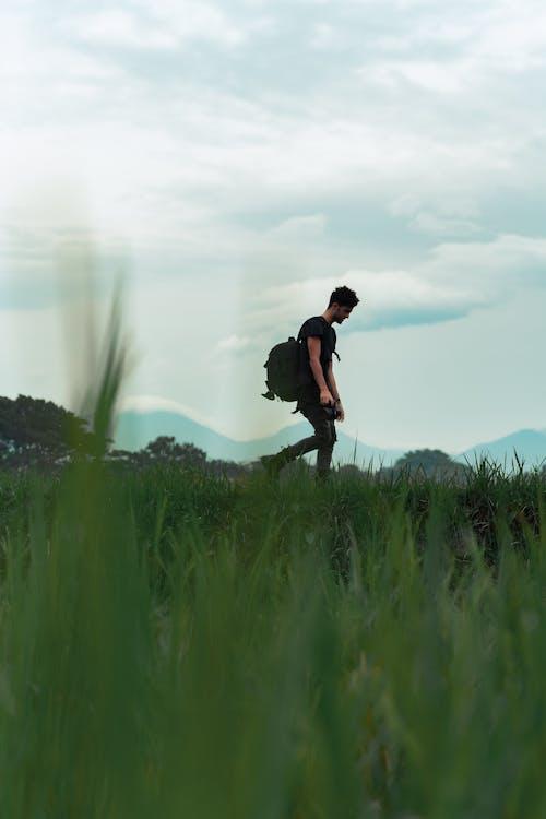 Kostnadsfri bild av backpacker, dagsljus, fält, frihet