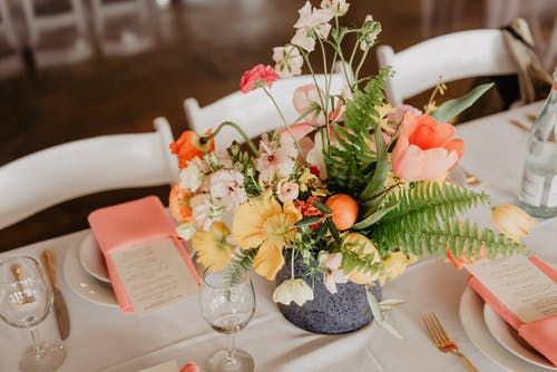 Assorted Flowers on Table