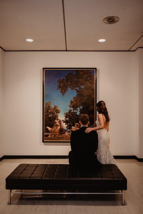 그림, 남자, 박물관