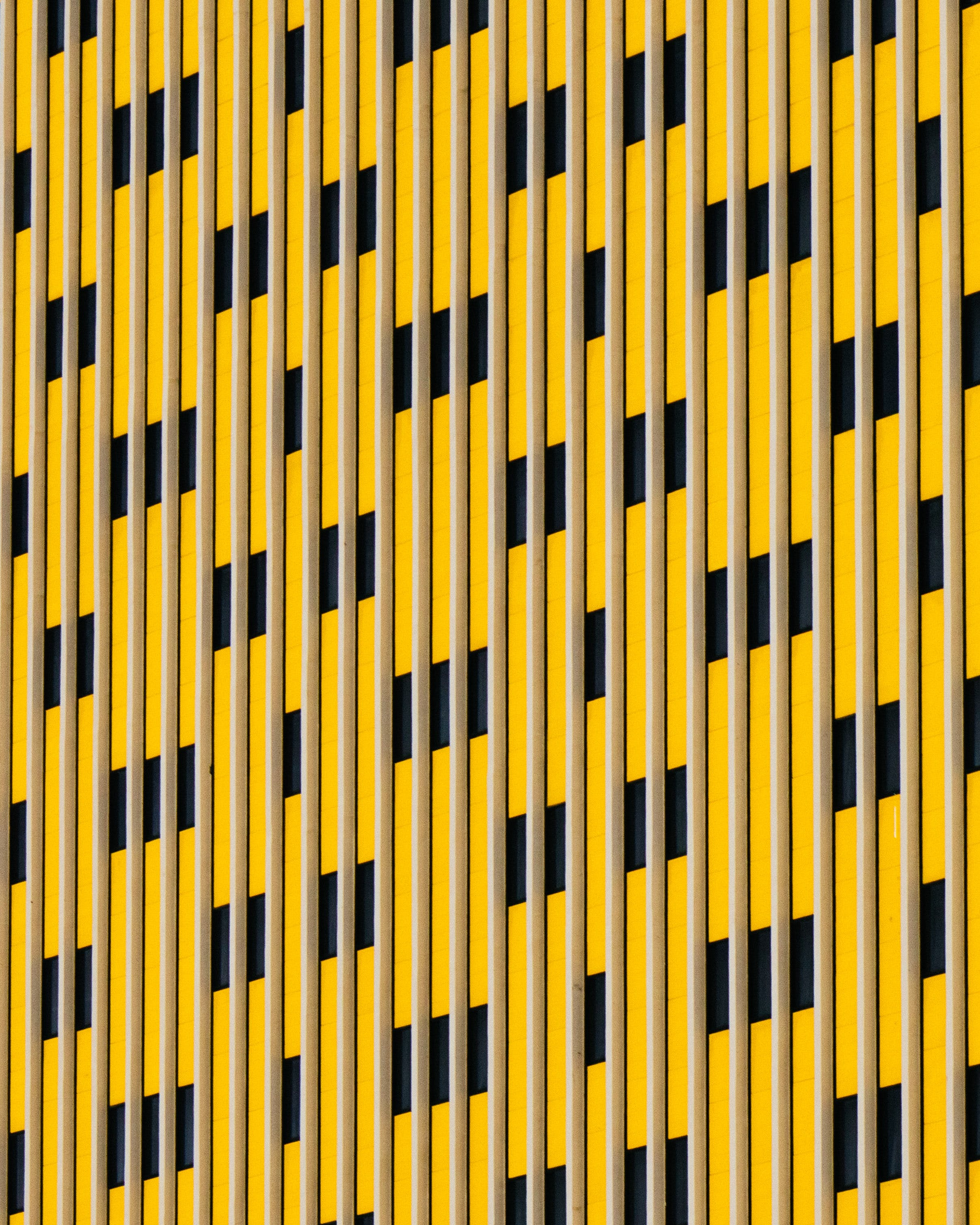 Yellow and Black Striped Pattern