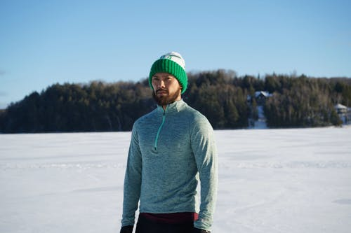 Free stock photo of athlete, beard, lake, portrait photography