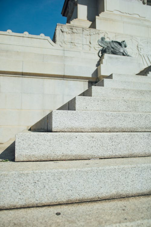 White Concrete Stair
