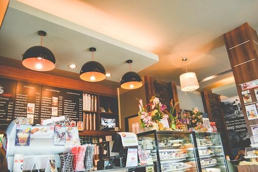Kostenloses Stock Foto zu speisekarte, restaurant, beleuchtung, lampen