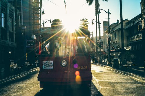 Free stock photo of disneyland, ride, trolley