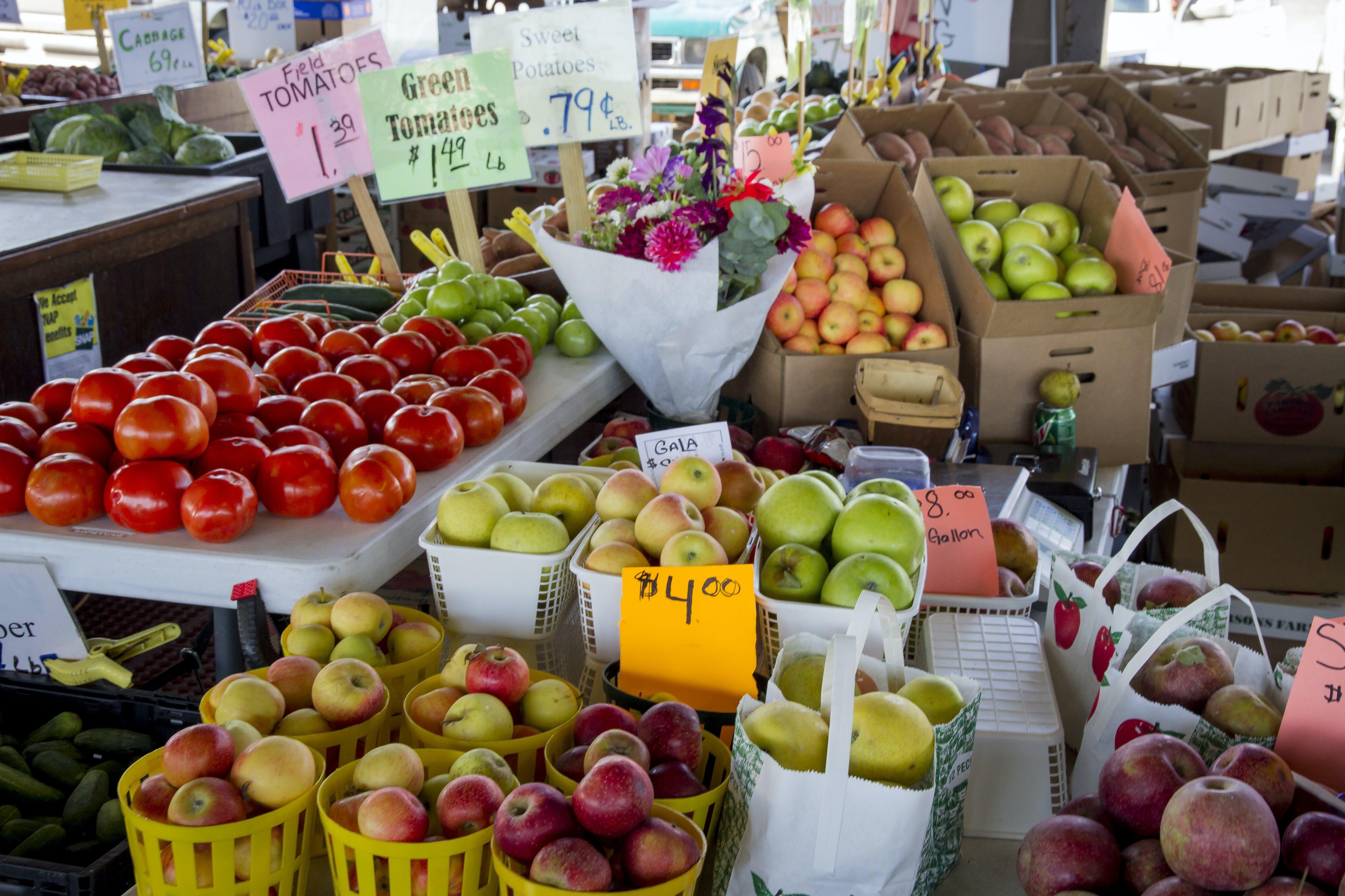 건강한, 과일, 꽃다발, 노점의 무료 스톡 사진