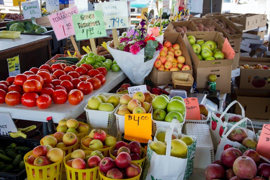 apel, berbelanja, buah-buahan