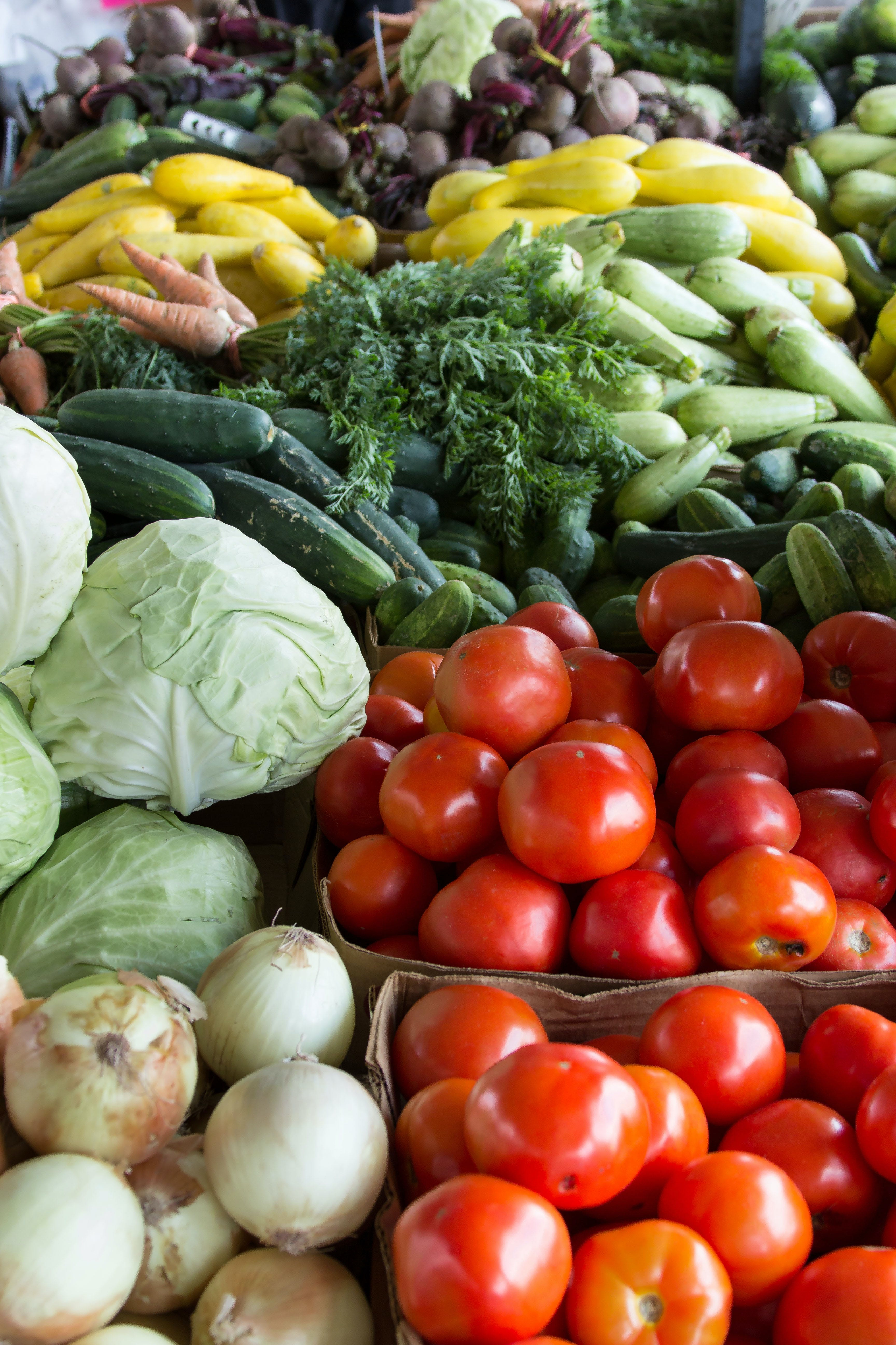 Fotos de stock gratuitas de cebollas, clasificado, col, color