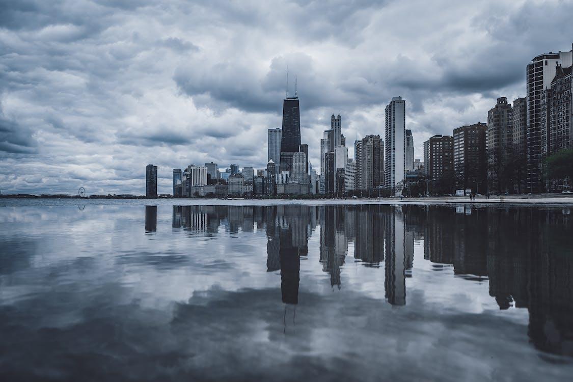 arkkitehtuuri, chicago, heijastus