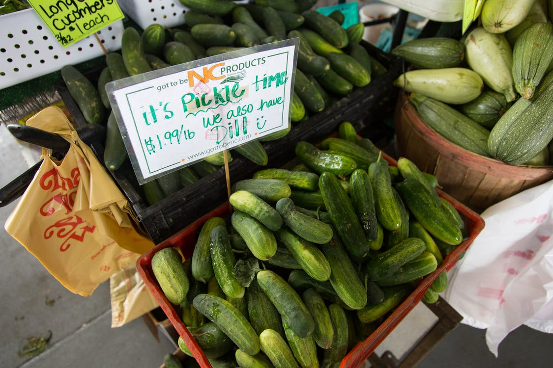 Green Pickles Store Display