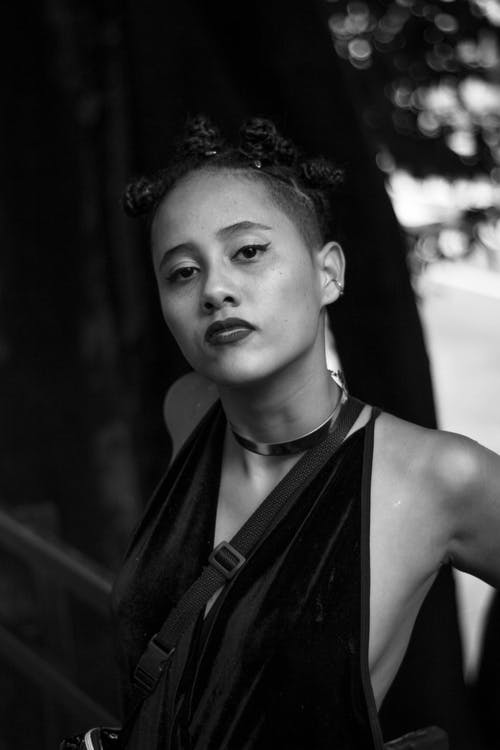 Grayscale Photography Of Woman Wearing Racerback Top