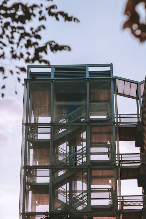 arquitectura, edifici, escala