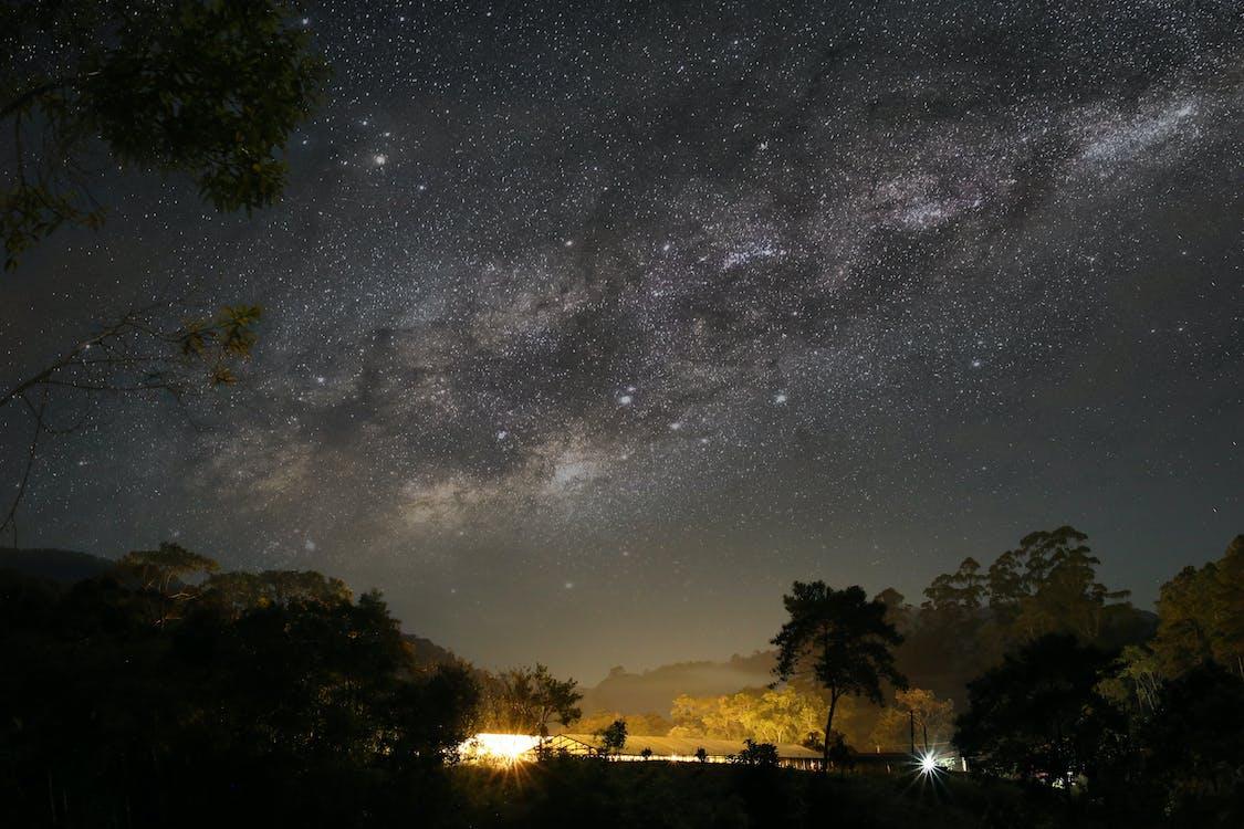 astronomia, céu, céu estrelado
