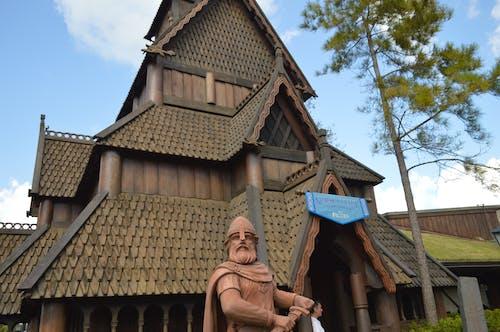 Darmowe zdjęcie z galerii z dom wikingów, drewniany dom, wiking