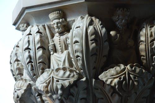 Darmowe zdjęcie z galerii z kamieniarstwo, kapitały, król, rzeźba
