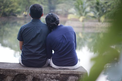 Free stock photo of couple, on the lake, Pre nup