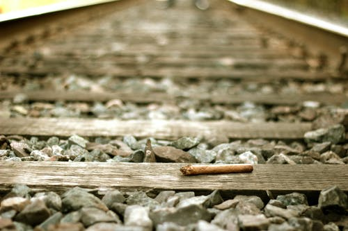 Free stock photo of cigar, railroad, railroad tracks, train tracks