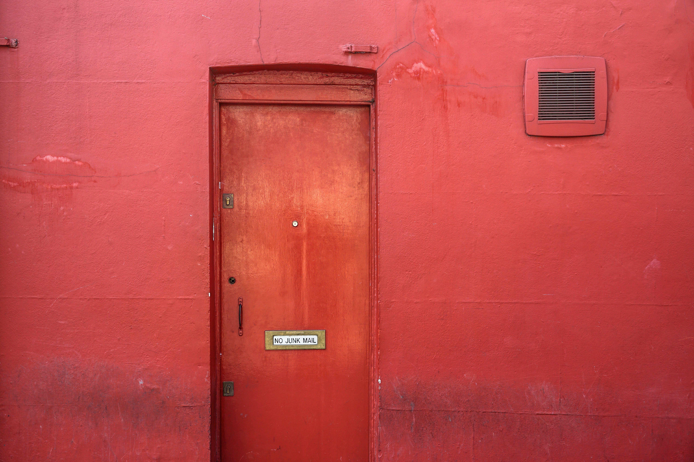 Kostenloses Stock Foto zu eingang, mauer, rot, tür