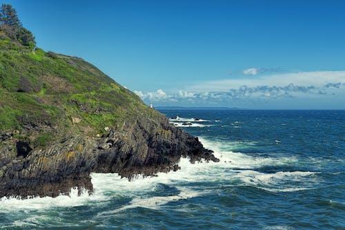 Бесплатное стоковое фото с волны, голубые воды, горизонт, длинная экспозиция
