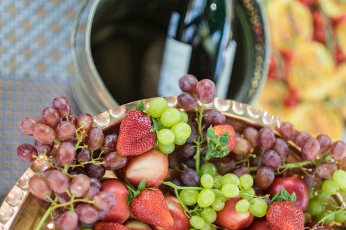 Free stock photo of bowl of fruit, champagne, entertain, food