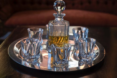 Free stock photo of alcoholic drinks, crystal glasses