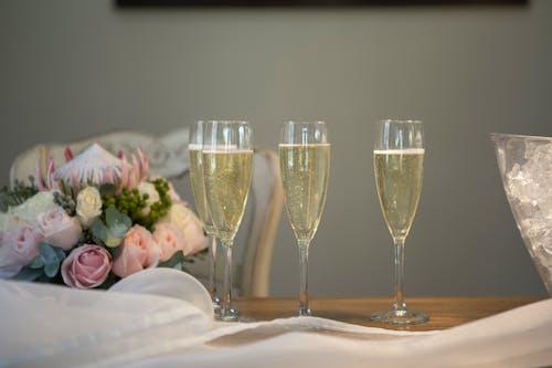 Free stock photo of bride, champagne, wedding