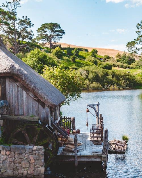 Free stock photo of air new zealand, lake, landscape, love symbol