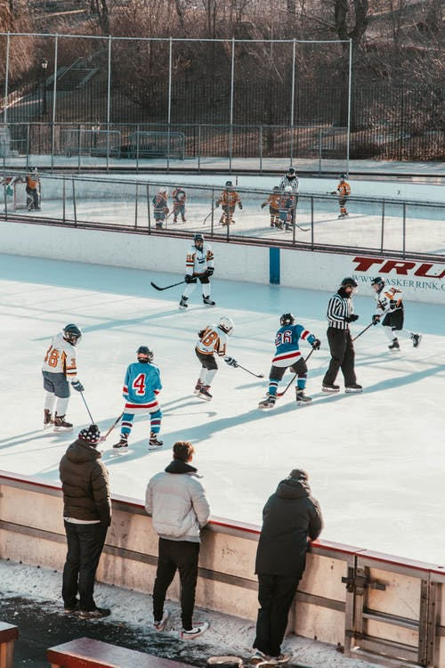 Players Playing Ice Hockey