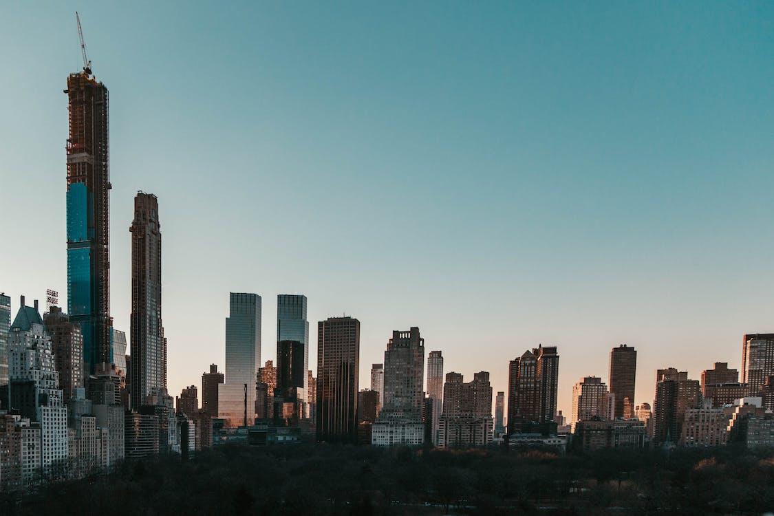 冬季, 城市, 天際線