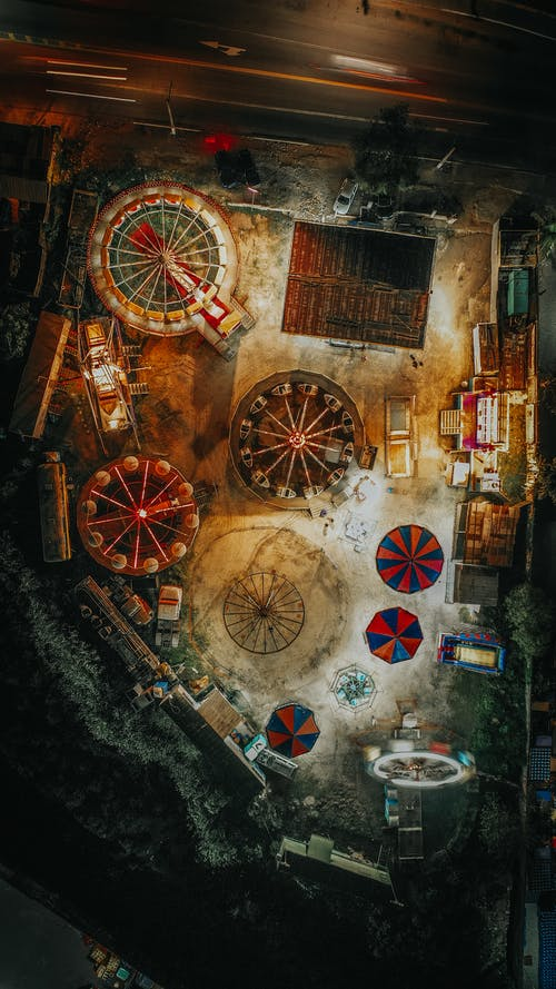 從上面, 戶外, 晚上, 晚上的時間 的 免費圖庫相片