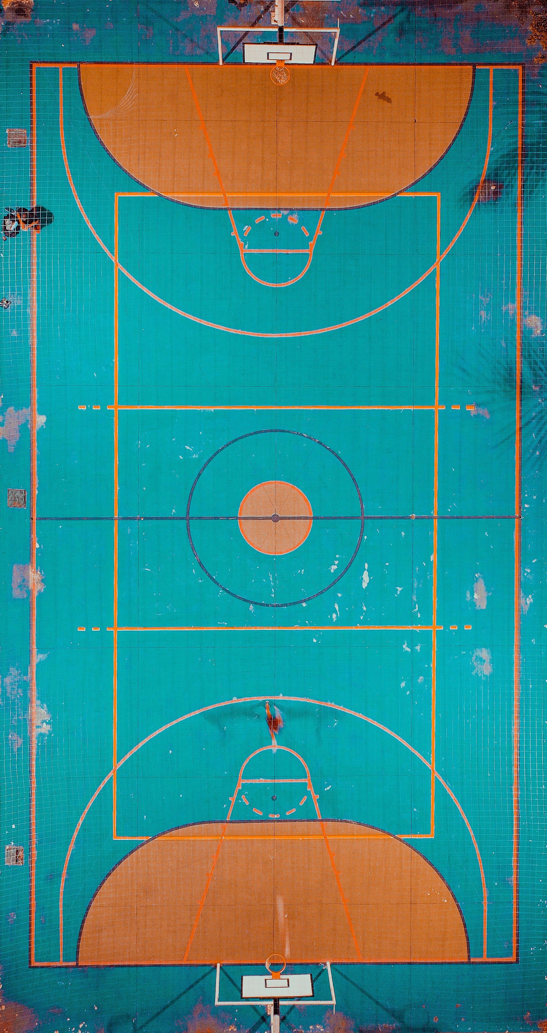 Fotos de stock gratuitas de desde arriba, foto aérea, juzgado, pista de baloncesto